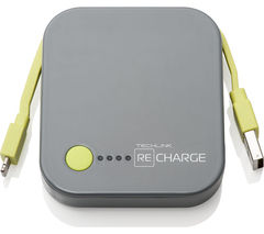 TECHLINK Recharge 4000 Portable Power Bank - Grey