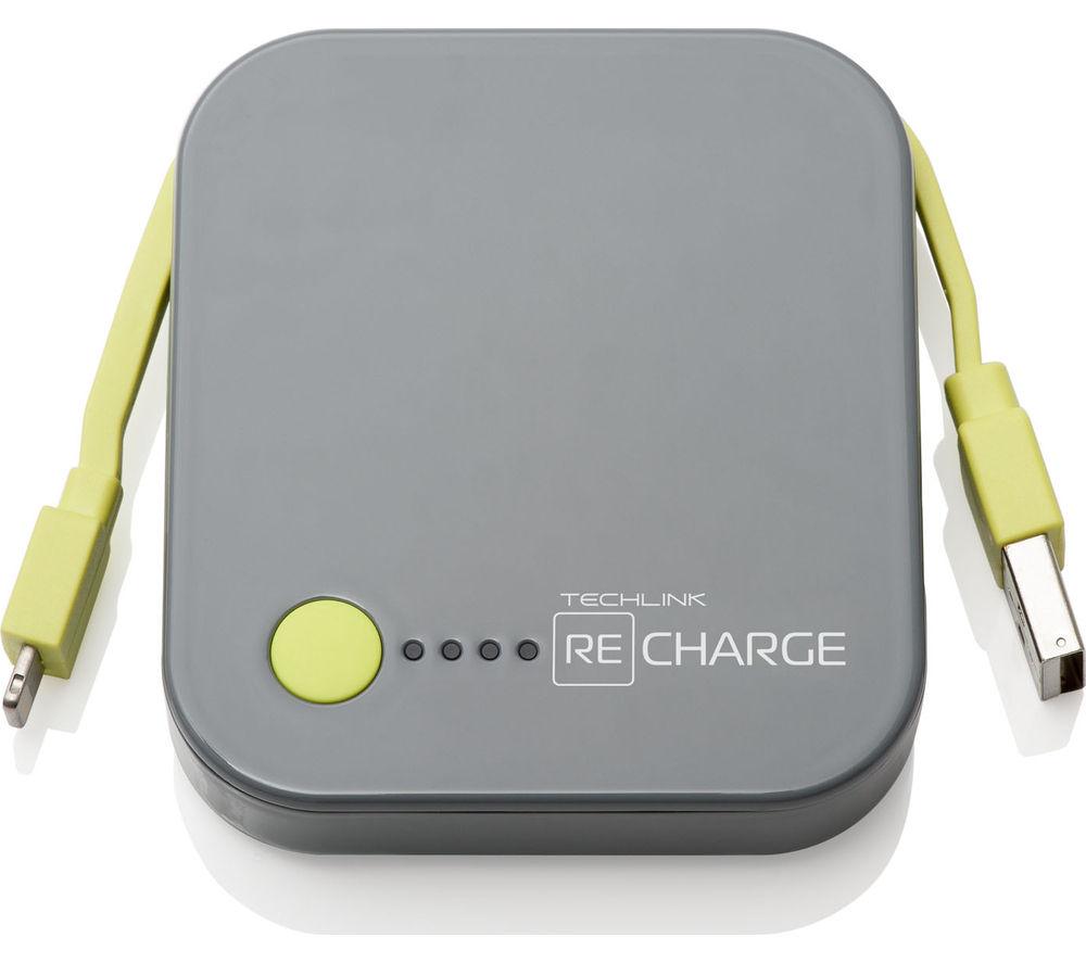 TECHLINK Recharge 4000 Portable Power Bank - Grey