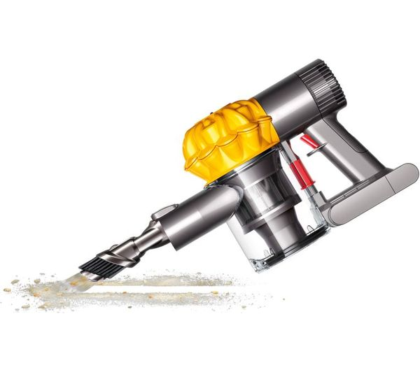 buy dyson v6 trigger handheld vacuum cleaner iron yellow free delivery currys. Black Bedroom Furniture Sets. Home Design Ideas