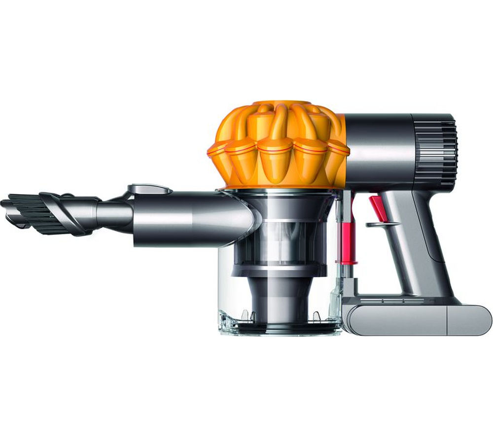 DYSON V6 Trigger Handheld Vacuum Cleaner - Iron & Yellow + Zorb Carpet Cleaner