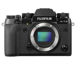 FUJIFILM X-T2 Compact System Camera - Black, Body Only