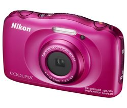 NIKON COOLPIX W100 Tough Compact Camera - Pink
