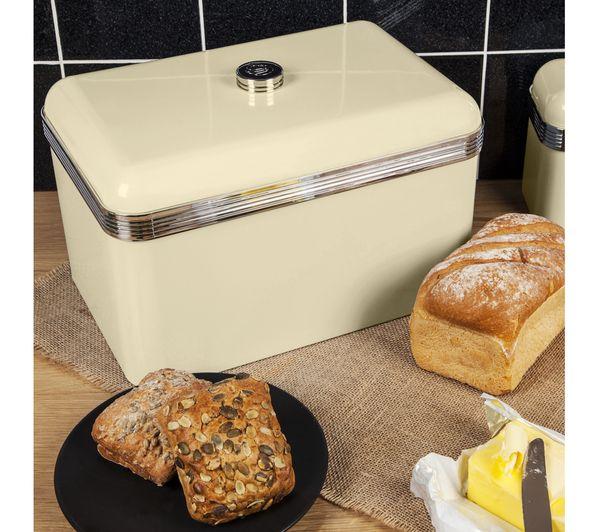 Buy SWAN Retro Bread Bin - Cream