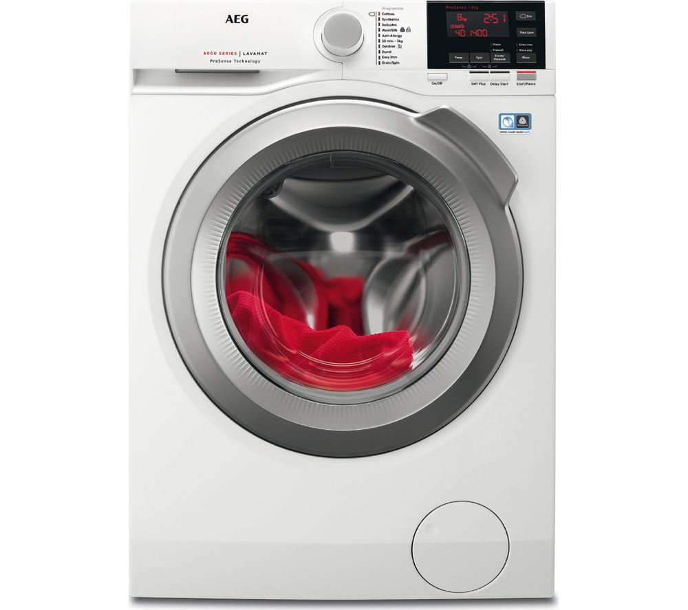 AEG ProSense L6FBG842R Washing Machine  White White