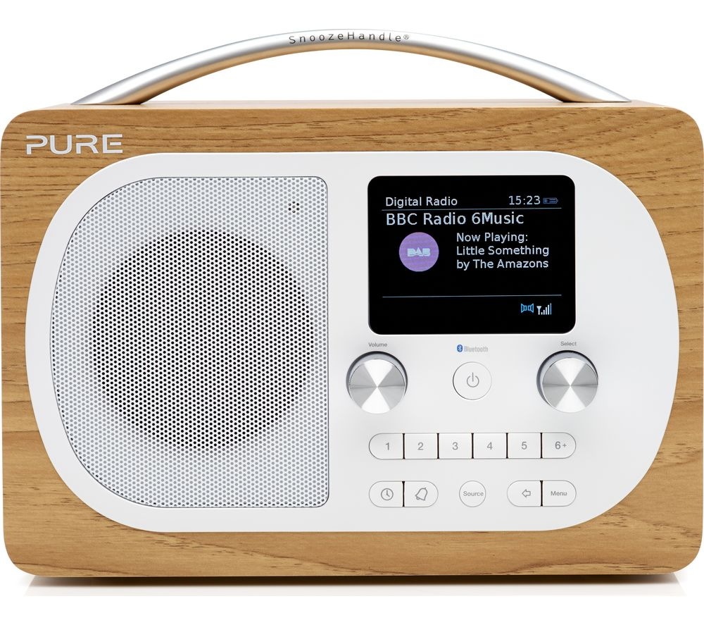 buy pure evoke h4 portable dab fm bluetooth clock radio. Black Bedroom Furniture Sets. Home Design Ideas