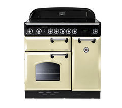RANGEMASTER Classic 90 Electric Ceramic Range Cooker - Cream & Chrome