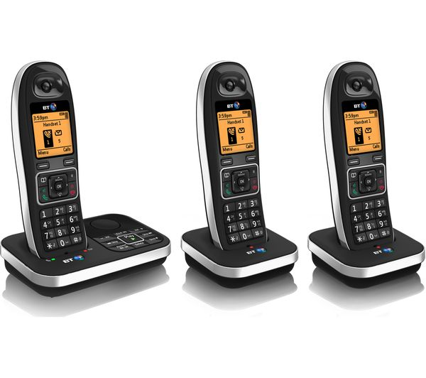 buy bt 7610 cordless phone with answering machine triple. Black Bedroom Furniture Sets. Home Design Ideas