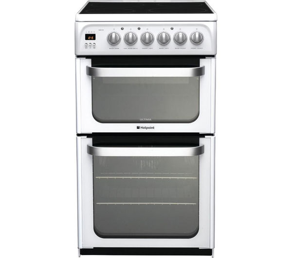 HOTPOINT Ultima HUE53PS Electric Ceramic Cooker - White