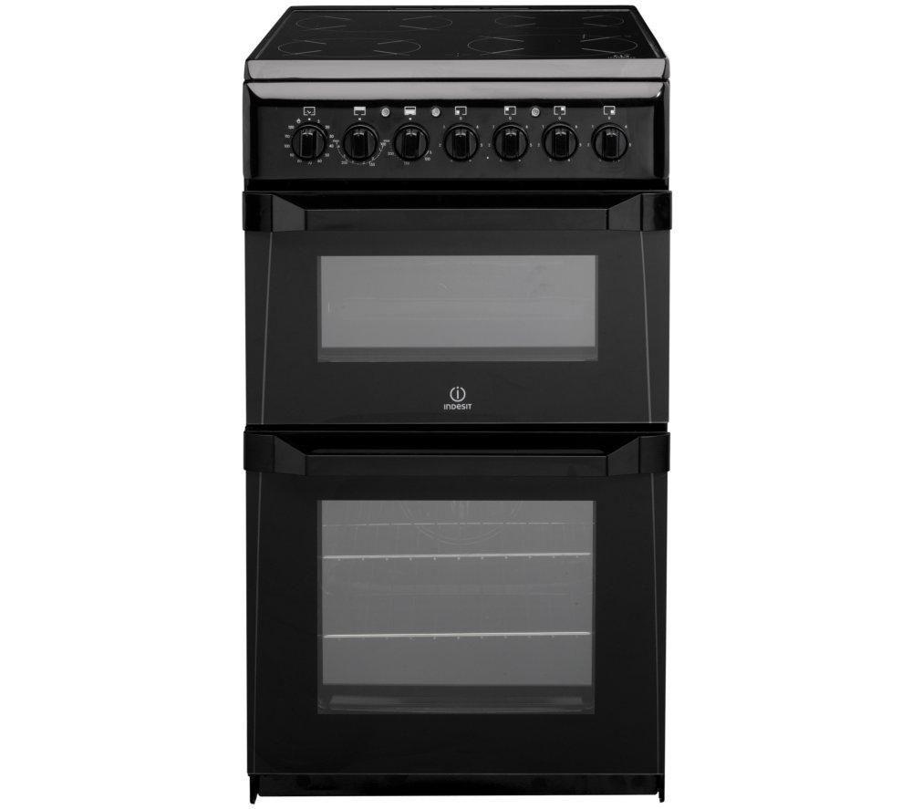 INDESIT ID50C1KS Electric Ceramic Cooker - Black