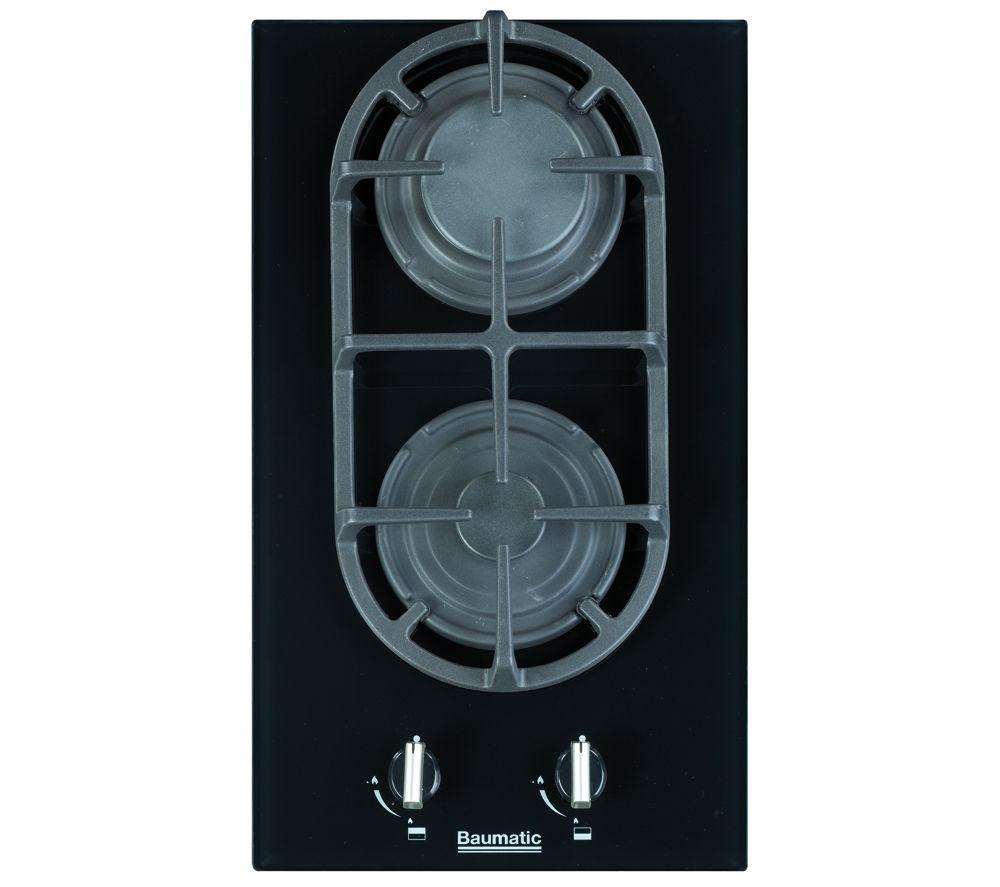 BAUMATIC BGG32 Gas Hob - Black Glass