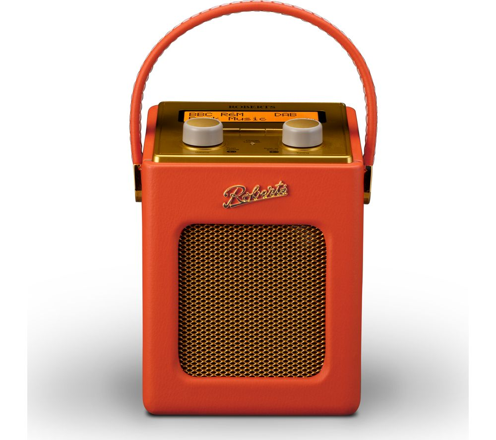roberts revival mini portable dab radio sunburst orange gold deals pc world. Black Bedroom Furniture Sets. Home Design Ideas