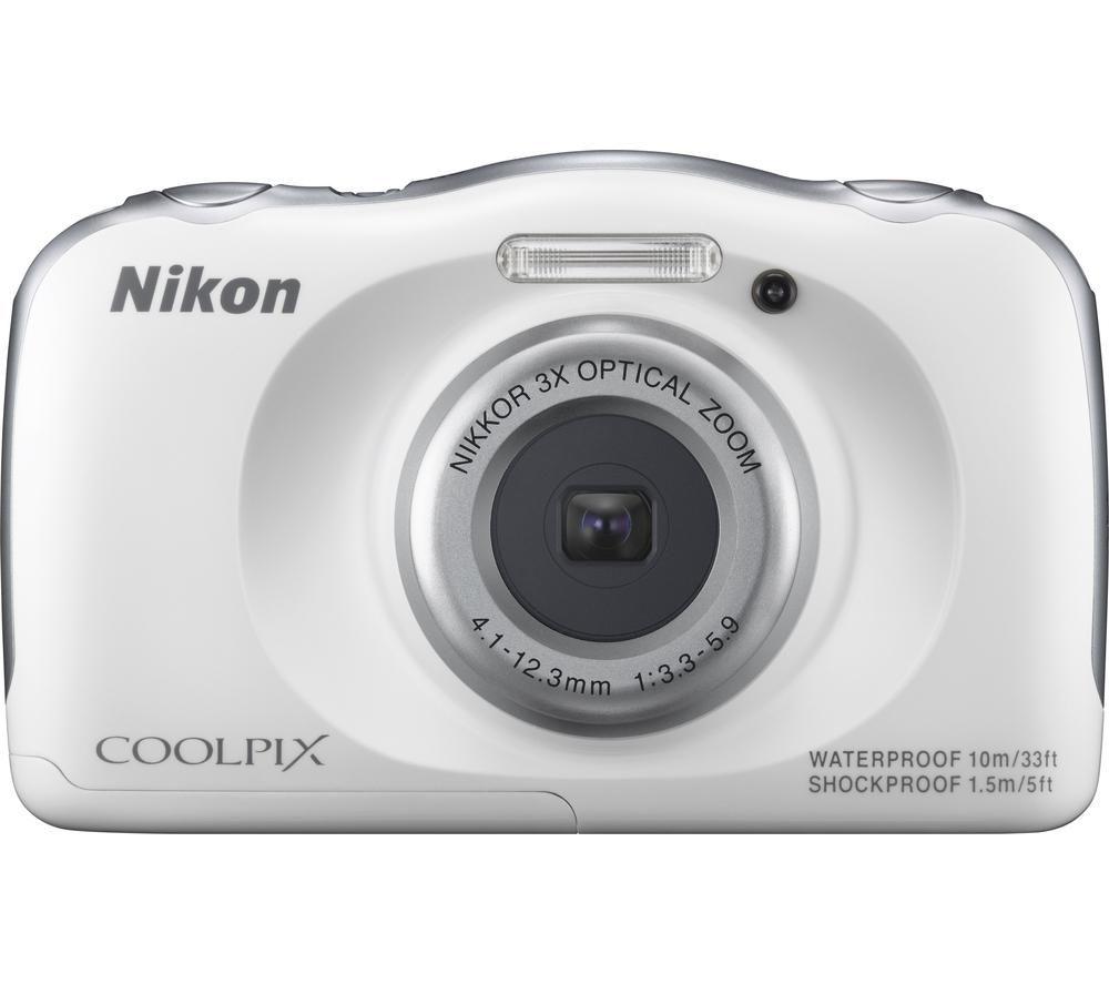 NIKON COOLPIX S33 Tough Compact Camera - White