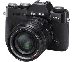 FUJIFILM X-T10 Mirrorless Camera with 18-55 mm f/2.8-4.0 Lens - Black
