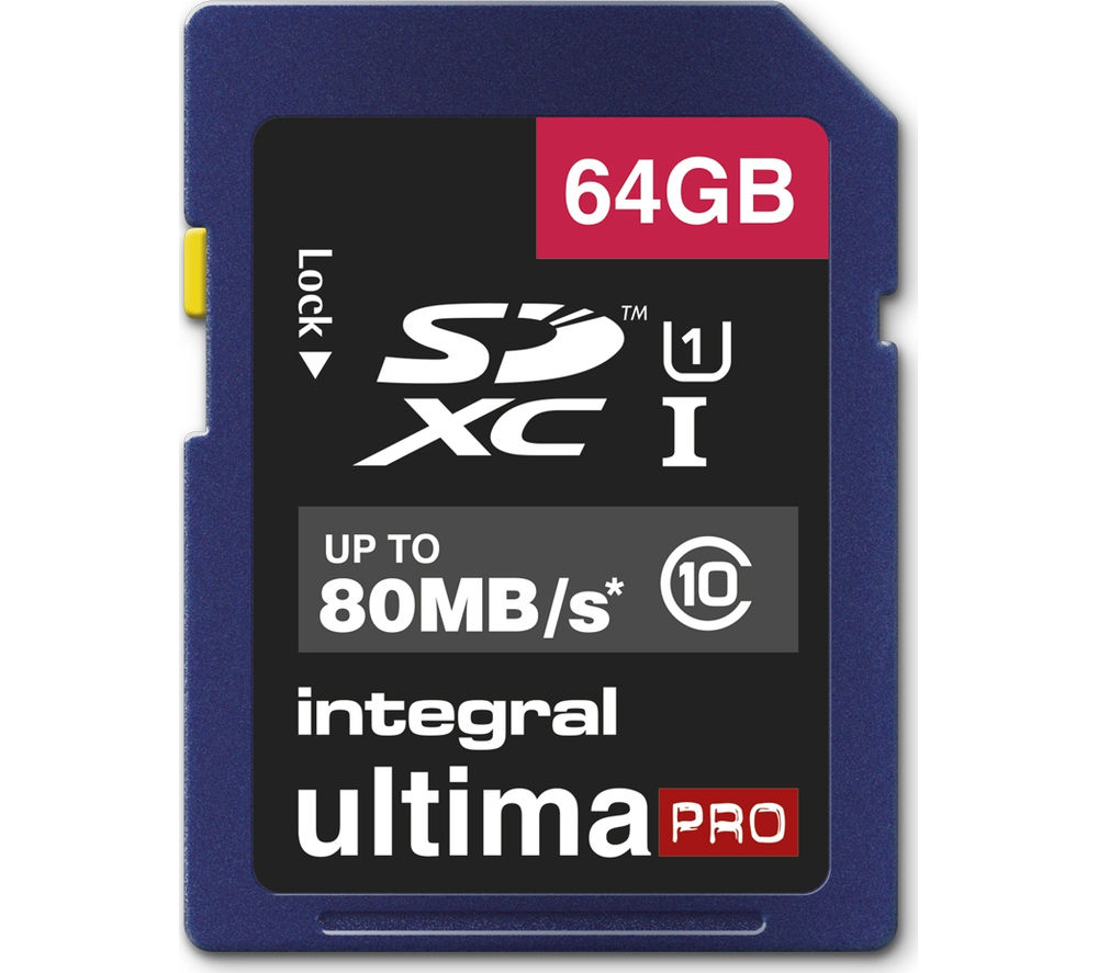 Integral  Ultimapro Class 10 Sdhc Memory Card - 64 Gb.