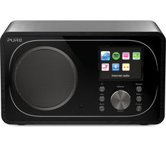 PURE Evoke F3 DAB+/FM Bluetooth Clock Radio - Black
