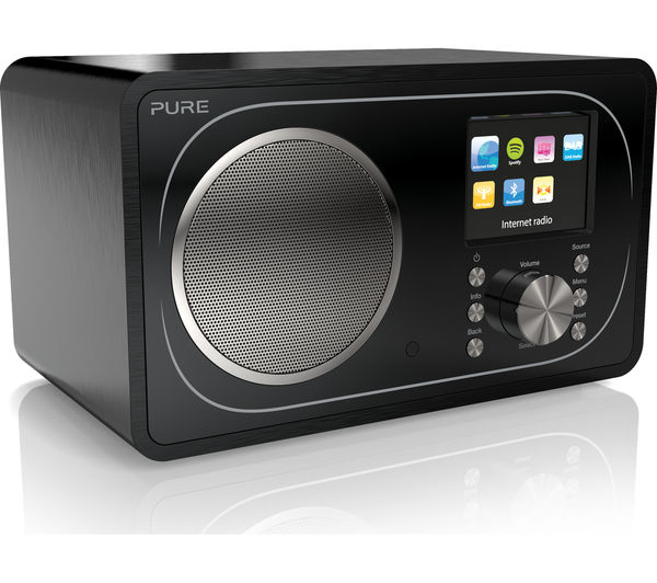 buy pure evoke f3 dab fm bluetooth clock radio black. Black Bedroom Furniture Sets. Home Design Ideas