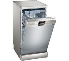 SIEMENS iQ500 SR26T891GB Slimline Dishwasher - Silver
