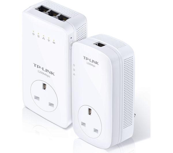 Image of TP-LINK TL-WPA8630PKIT AV1200 Wireless Powerline Adapter Kit - Twin Pack