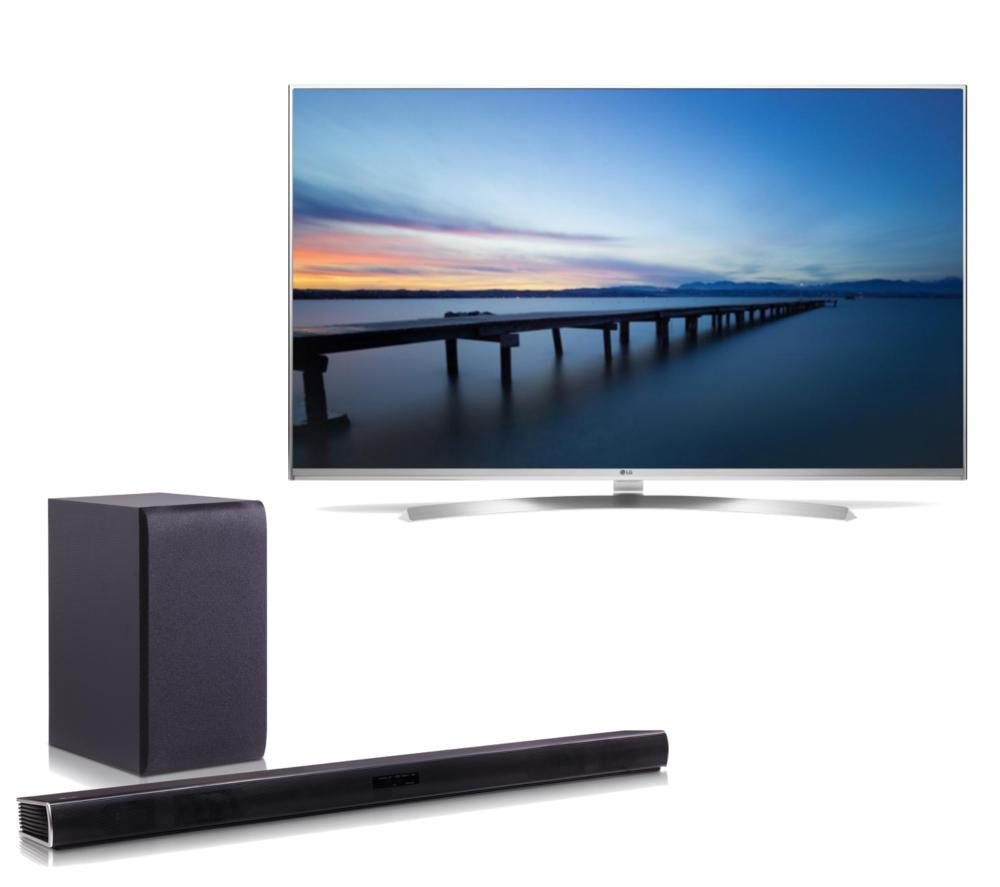 buy lg 55uh850v smart 3d 4k ultra hd hdr 55 led tv wireless sound bar bundle free delivery. Black Bedroom Furniture Sets. Home Design Ideas