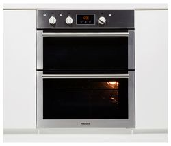 HOTPOINT DU4 541 IX Electric Built-under Double Oven - Black & Stainless Steel