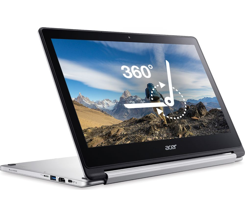 ACER Chromebook R 13 CB5-312T 2-in-1 Touchscreen - Silver + Cloud Storage for Tablets & Mobiles - 200 GB, 1 year