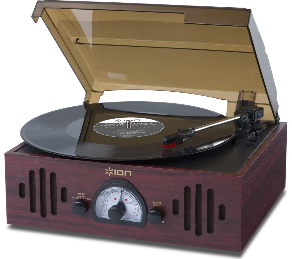 ION Trio LP Turntable - Dark Wood