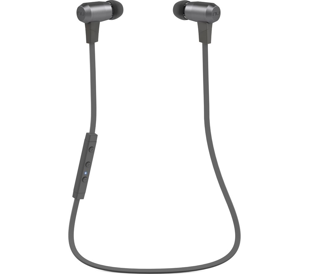 Click to view more of OPTOMA  NuForce BE6i Wireless Bluetooth Noise-Cancelling Headphones - Grey, Grey