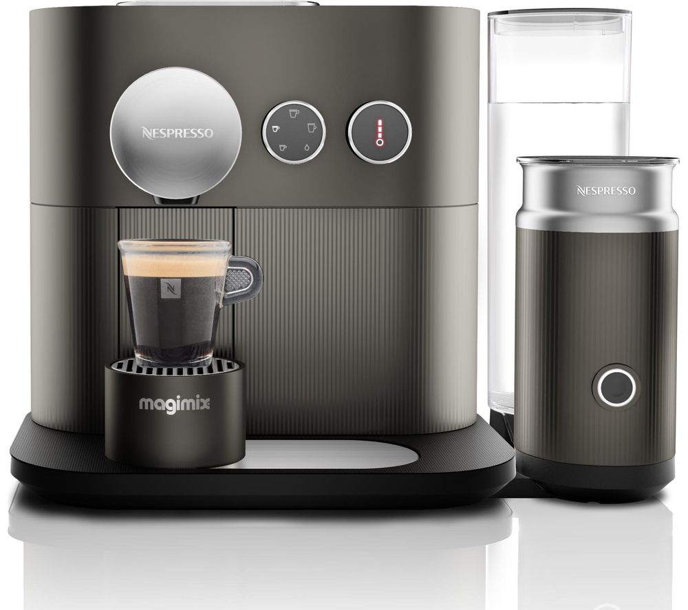 NESPRESSO by Magimix Expert M500 Smart Coffee Machine with Aeroccino  Arithrocite Grey Grey