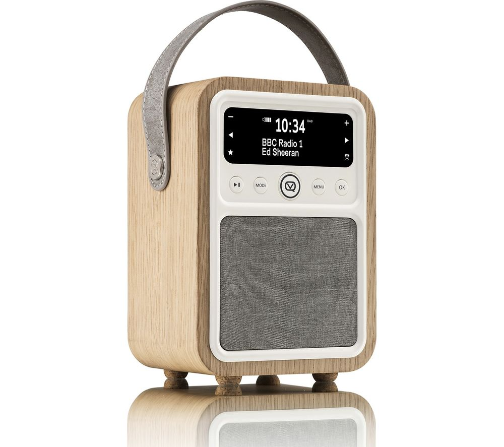 buy vq monty portable dab fm retro bluetooth clock radio oak free delivery currys. Black Bedroom Furniture Sets. Home Design Ideas