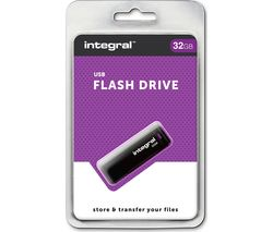 INTEGRAL USB 2.0 Memory Stick - 32 GB, Black