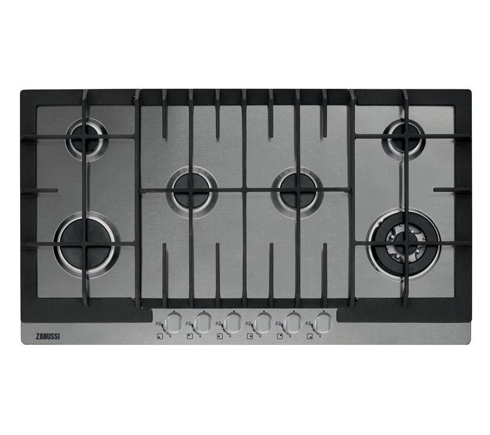 buy zanussi zgg96624xa gas hob stainless steel free. Black Bedroom Furniture Sets. Home Design Ideas