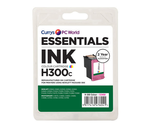 ESSENTIALS H300 Tri-colour HP Ink Cartridge