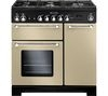 RANGEMASTER Kitchener 90 Dual Fuel Range Cooker - Cream & Chrome