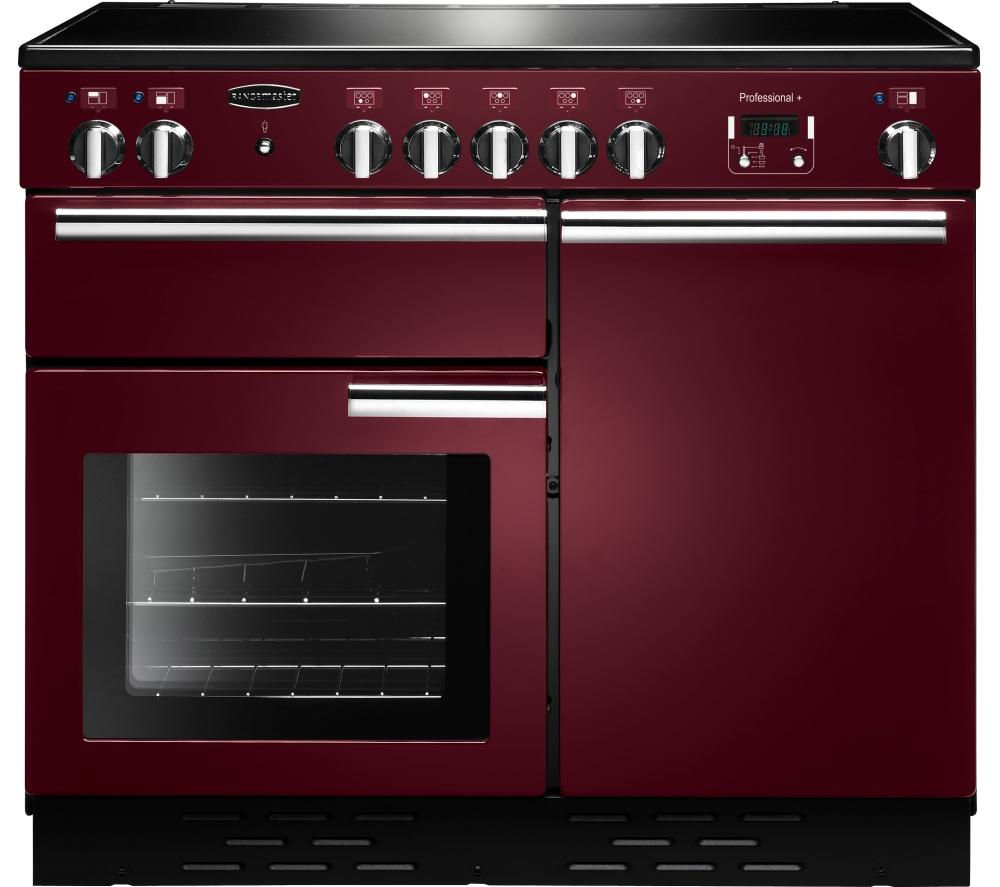 RANGEMASTER Professional+ 100 Induction Range Cooker - Cranberry & Chrome