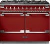 RANGEMASTER Elise SE 110 Dual Fuel Range Cooker - Cherry Red & Chrome