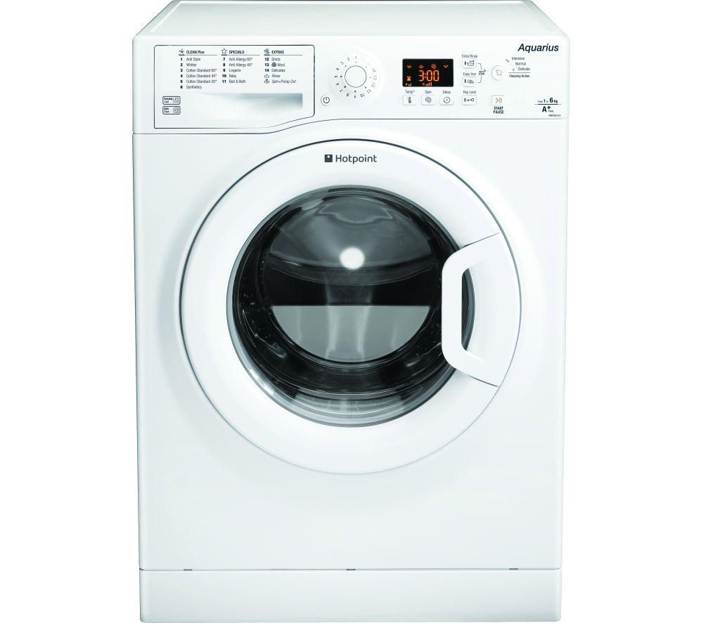 HOTPOINT Aquarius WMSAQG621P Washing Machine - White