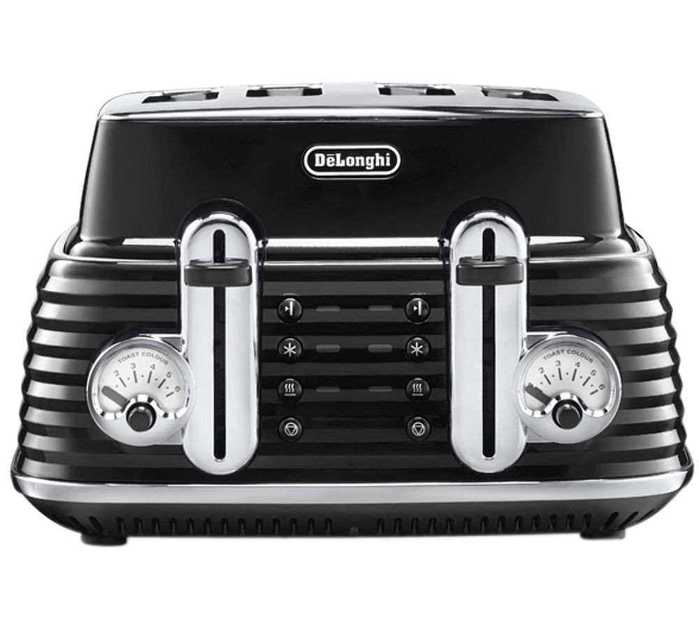 DELONGHI  Scultura CTZ4003BK 4-slice Toaster - Black +  Scultura KBZ3001BK Jug Kettle - Black