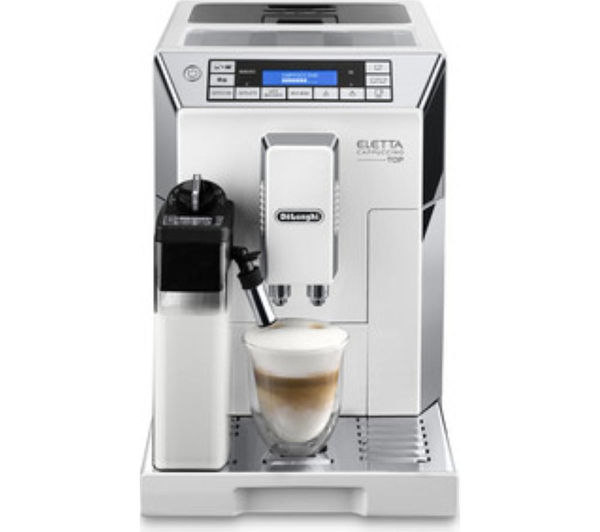 Buy DELONGHI Eletta Cappuccino Top ECAM45.760W Bean to Cup Coffee Machine - White & Silver ...