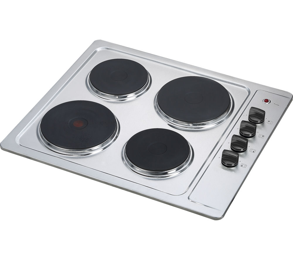 ESSENTIALS  CSPHOBX15 Electric Solid Plate Hob  Stainless Steel Stainless Steel