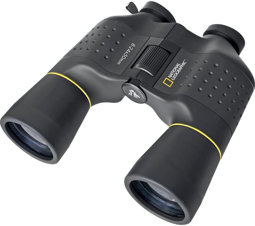 NAT. GEOGRAPHIC 90-64000 Zoom 8-24 x 50 mm Porro Prism Binoculars + 19-16500 Binocular Tripod Adapter