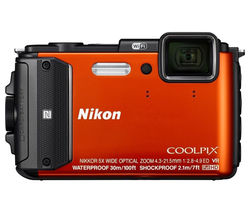 NIKON COOLPIX AW130 Tough Compact Camera - Orange