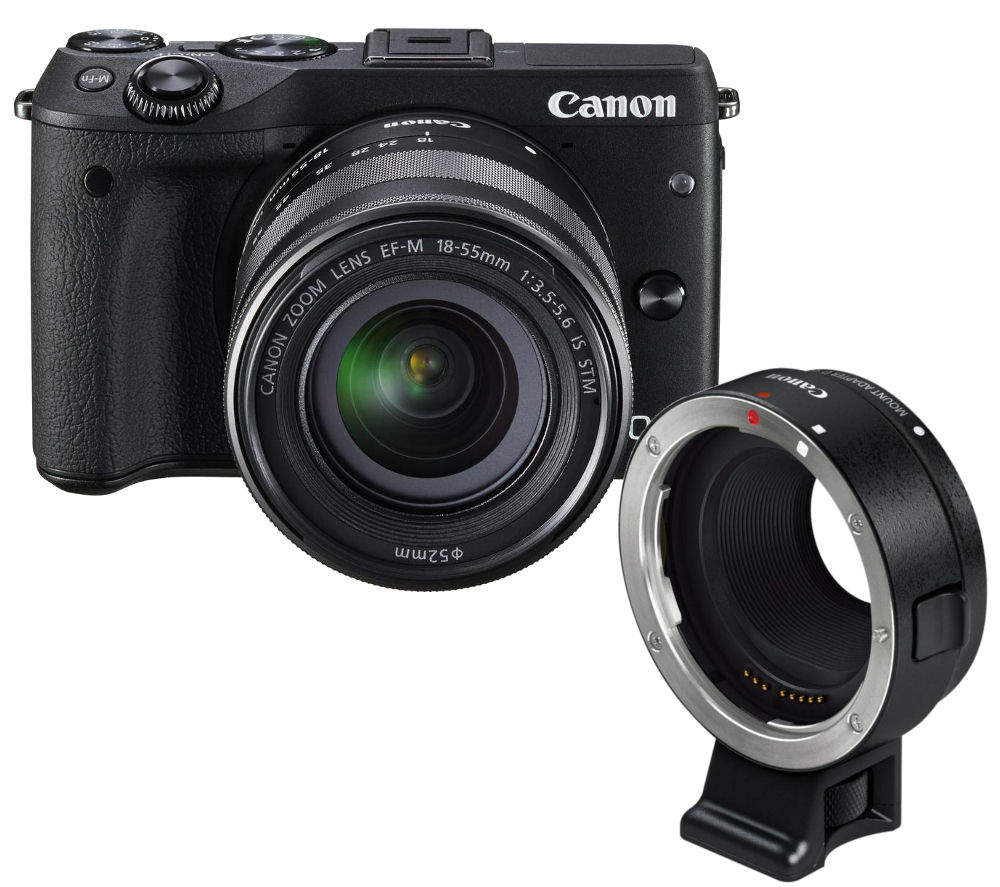 canon eos m3 compact system camera with ef m 18 55mm f 3 5. Black Bedroom Furniture Sets. Home Design Ideas