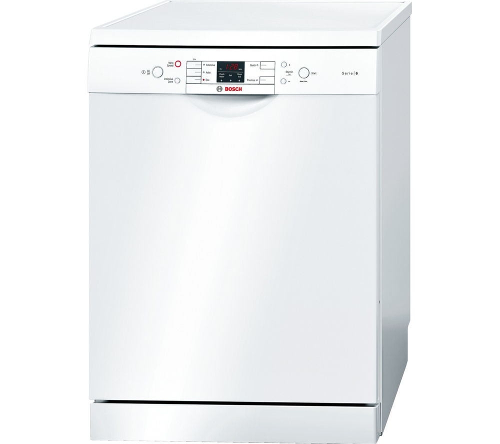 BOSCH Serie 6 SMS53M02GB Full-size Dishwasher - White