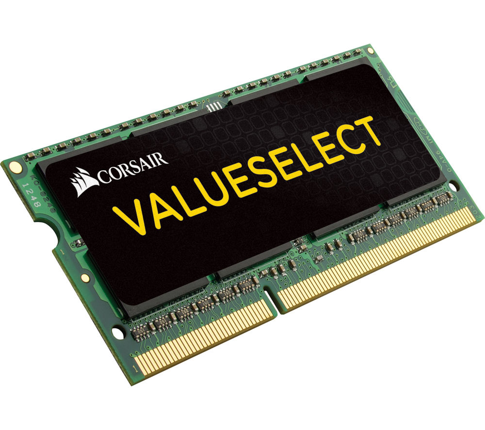 CORSAIR ValueSelect CMSO4GX3M1C1600C11 DDR3L Laptop Memory - 4 GB SODIMM RAM