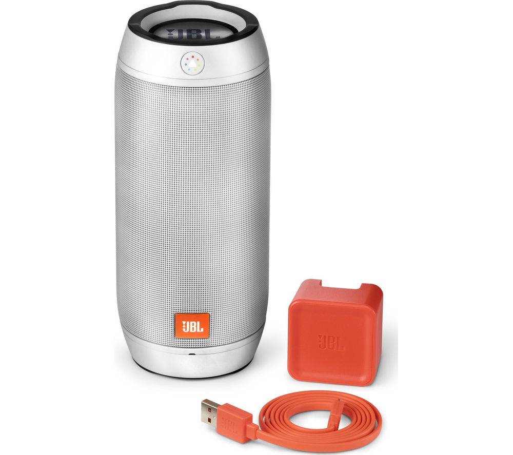 Click to view more of JBL  Pulse 2 Portable Wireless Speaker - Silver, Silver