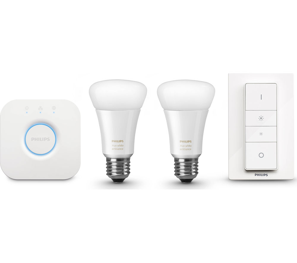 buy philips hue white ambiance starter kit free delivery. Black Bedroom Furniture Sets. Home Design Ideas