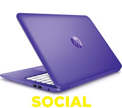 "HP Stream 13-c151na 13.3"" Laptop - Purple"