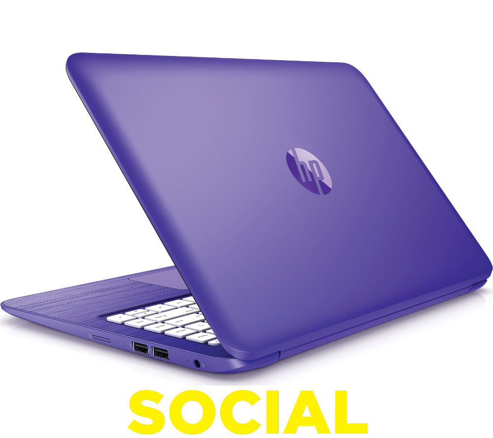 "Image of HP Stream 13-c151na 13.3"" Laptop - Purple"