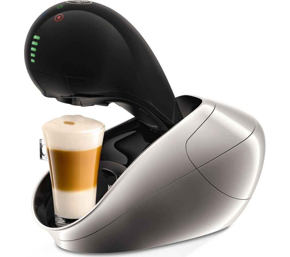 DOLCE GUSTO  by Krups Movenza KP600E40 Hot Drinks Machine  Silver Silver