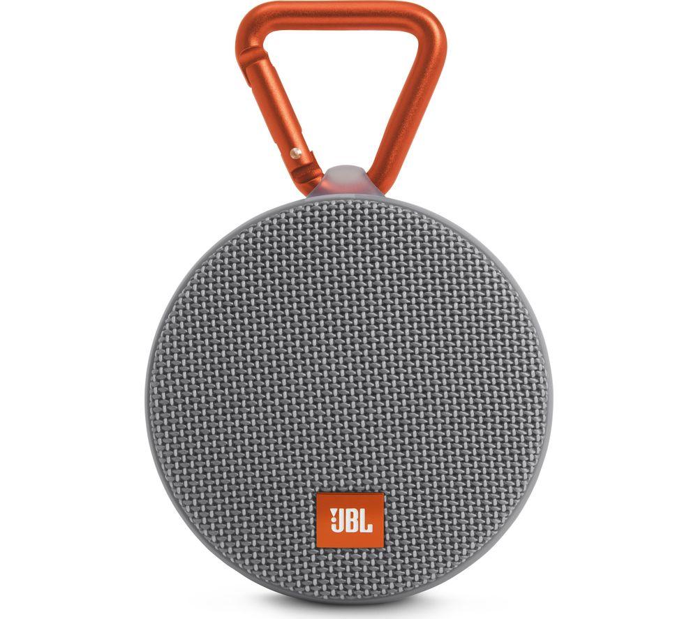 JBL Clip 2 Portable Bluetooth Wireless Speaker - Grey